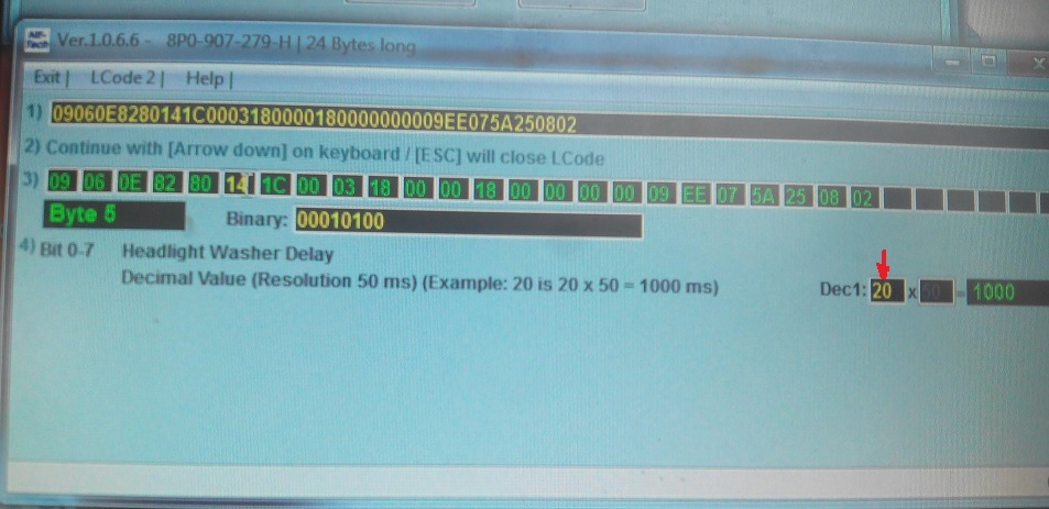 46-й блок кодирование - длинное кодирование - байт 11 - бит 7