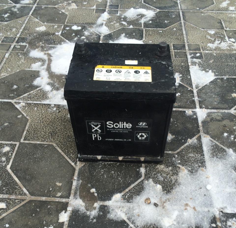 родной аккумулятор от hyundai elantra
