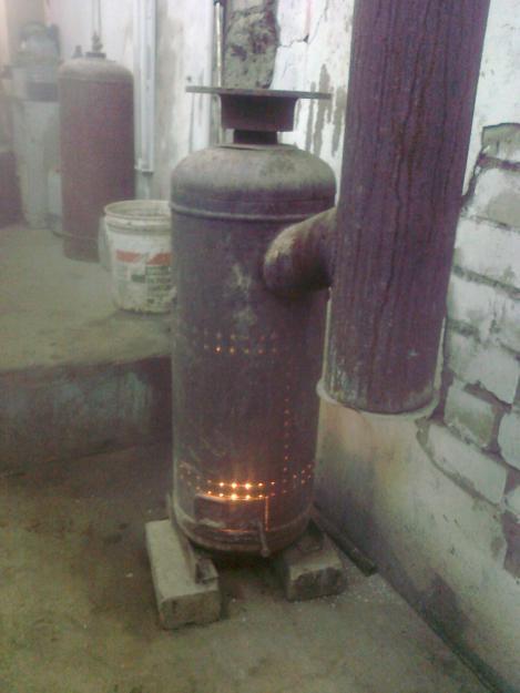 Печь на отработанном масле своими руками с газового баллона