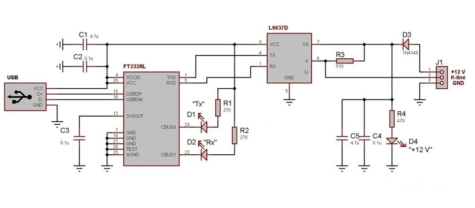 Usb-k+l line адаптер своими руками