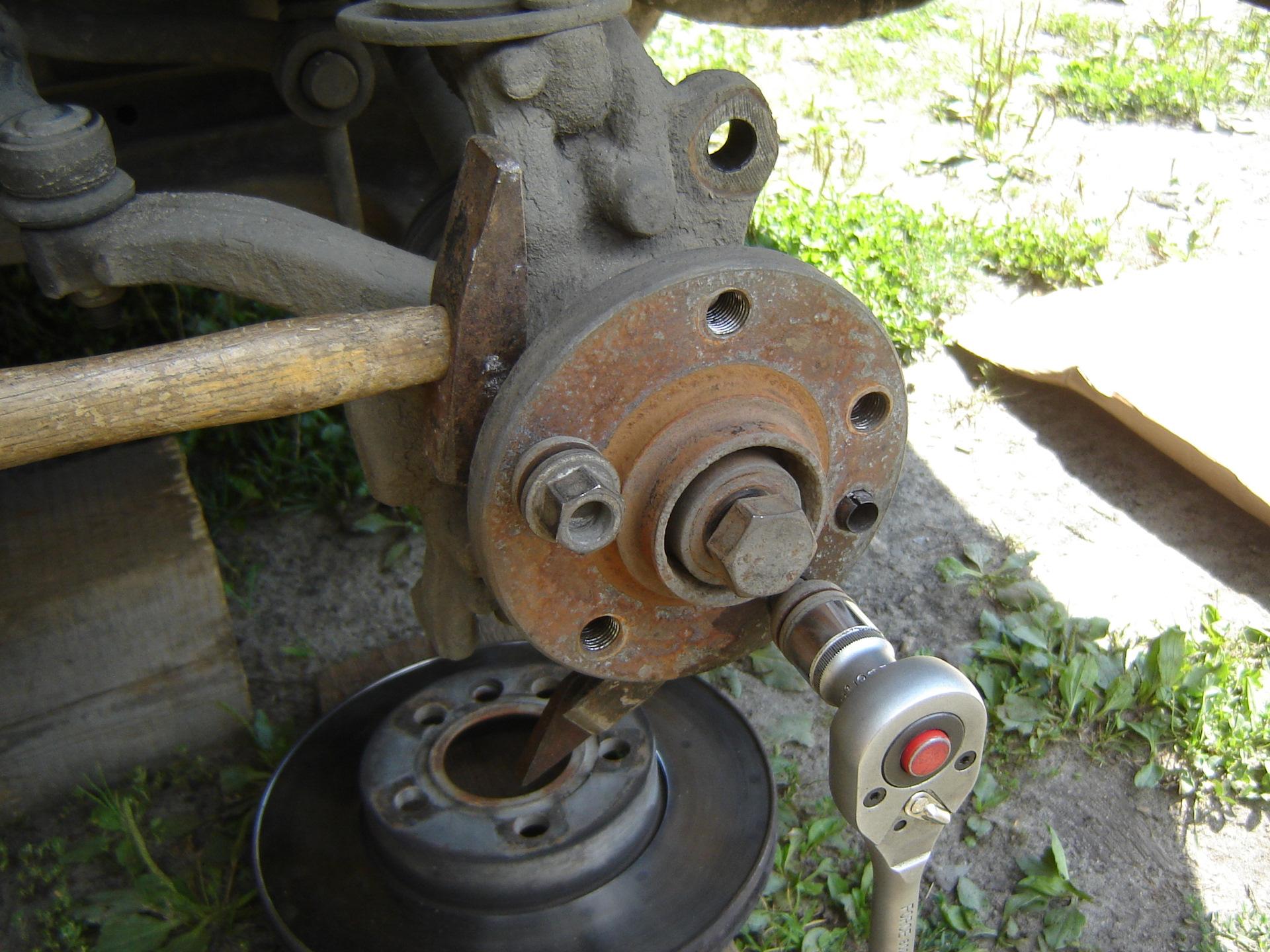 замена подшипника передней ступицы т4 транспортер
