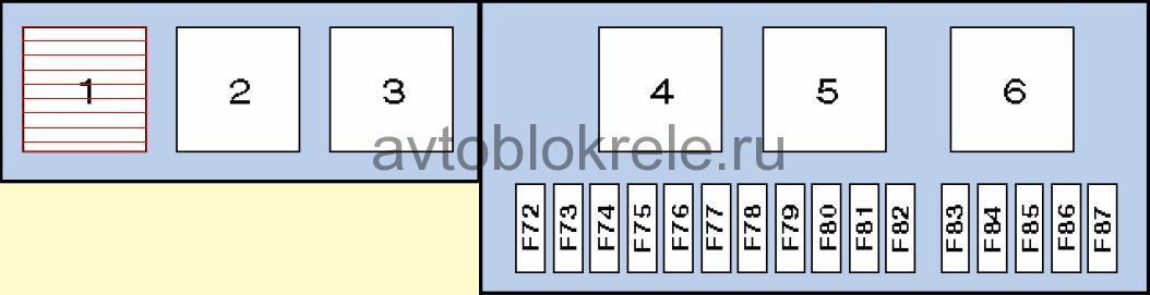 на bmw предохранителей е53 схема x5