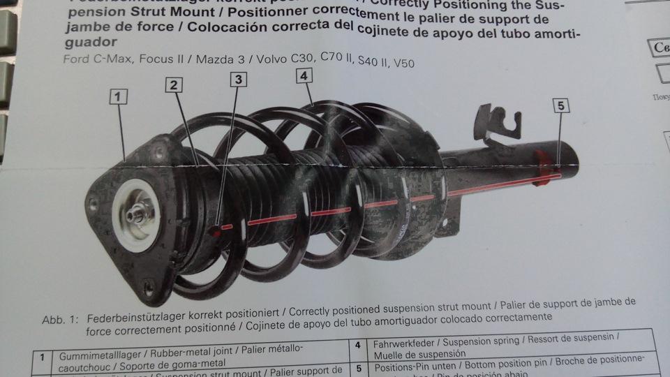 Замена опорных подшипников передних стоек форд фокус 2