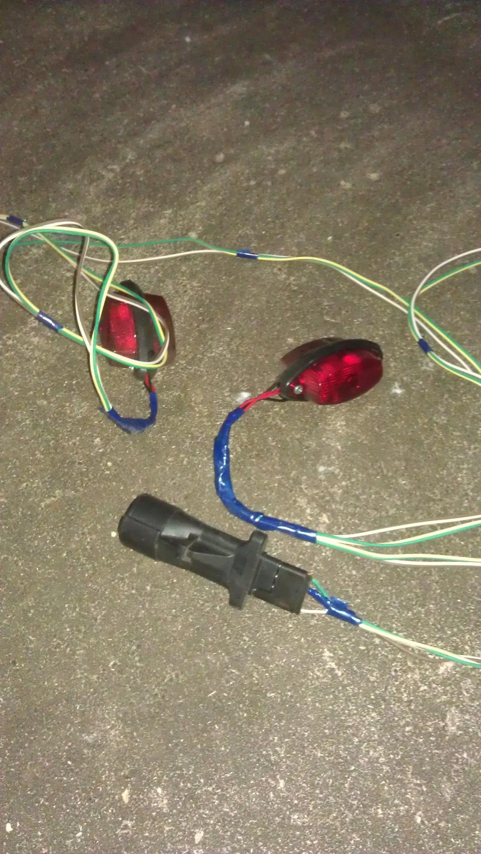 схема подключения электрики автомобильного прицепа
