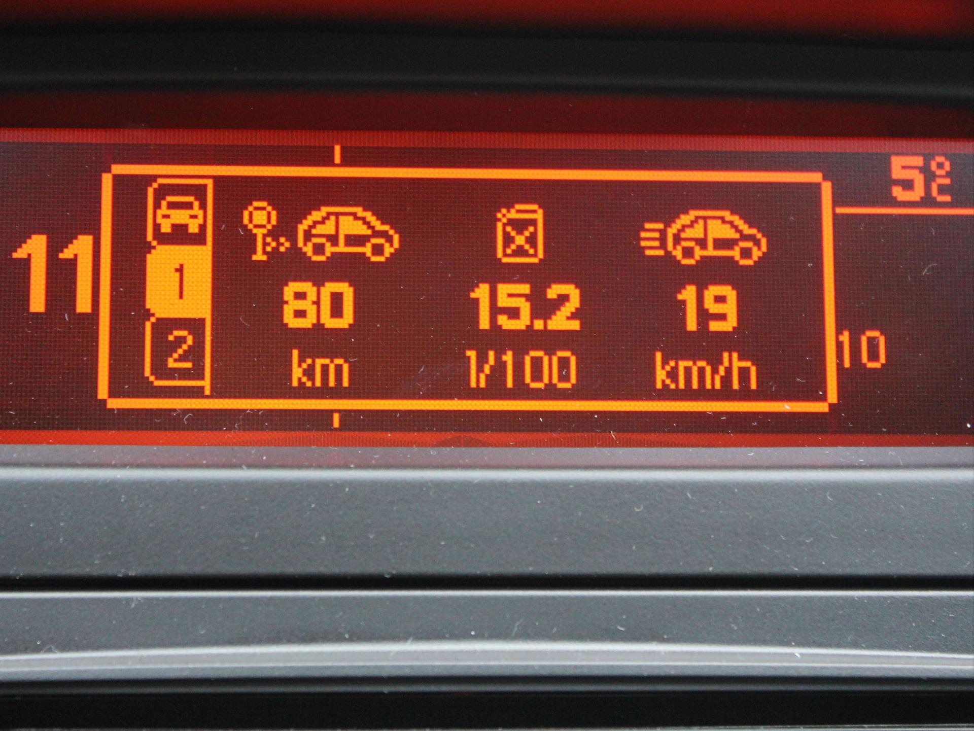 расход бензина на 100 км: