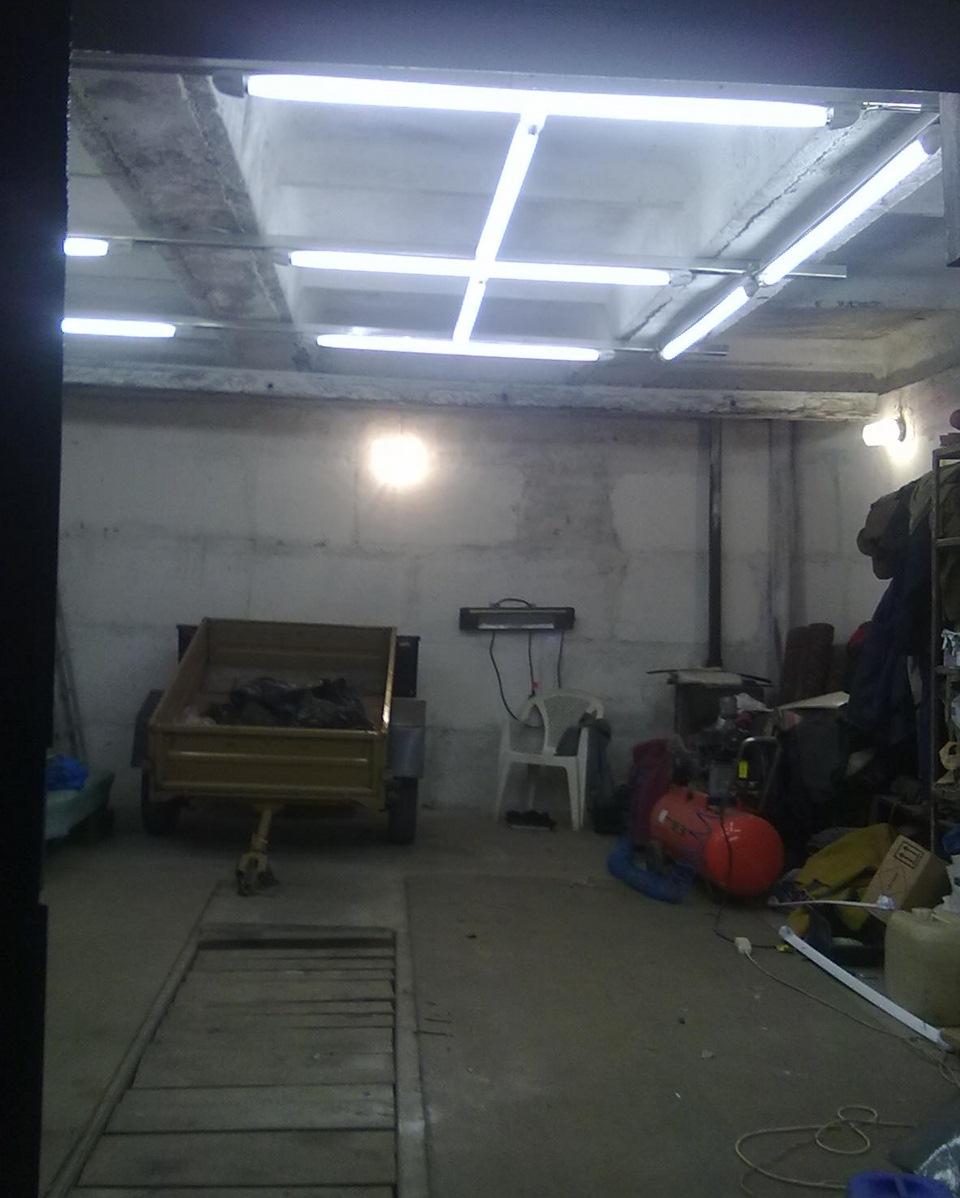 Свет в гараж своими руками 18