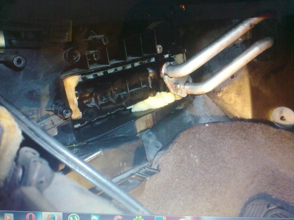 как снять трубки радиатора печки opel omega