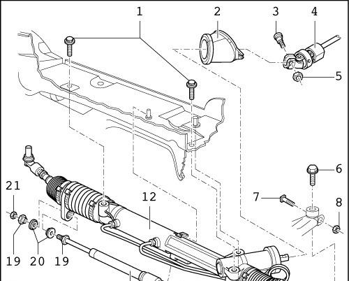Ремонт рулевой рейки своими руками мазда