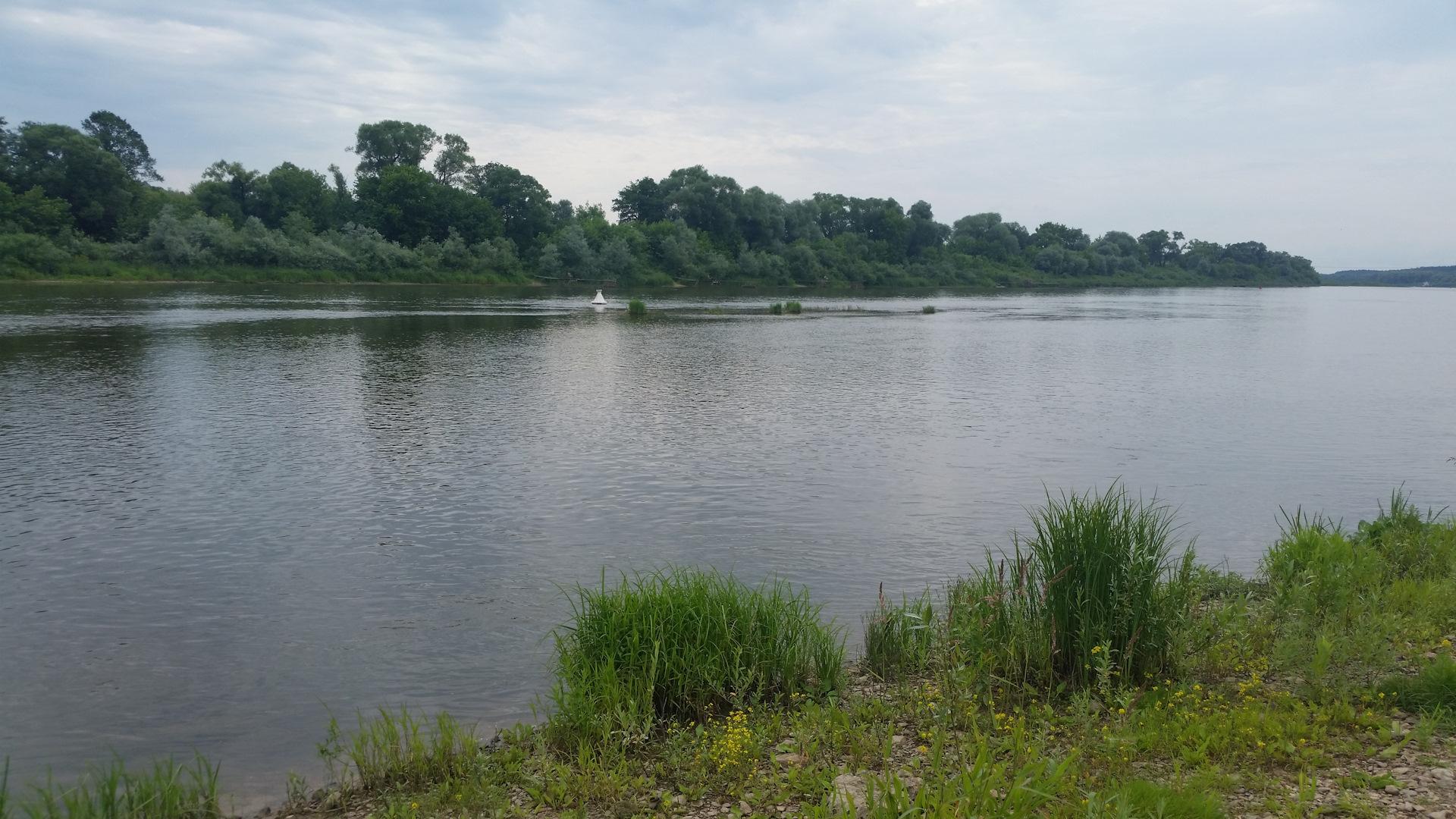 Место рыбалки на оке