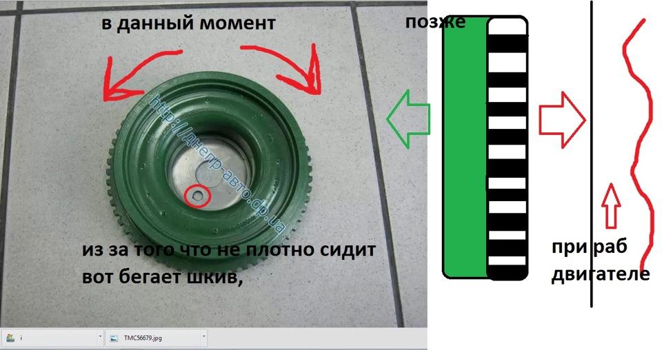 Фото №1 - шкив коленвала ВАЗ 2110