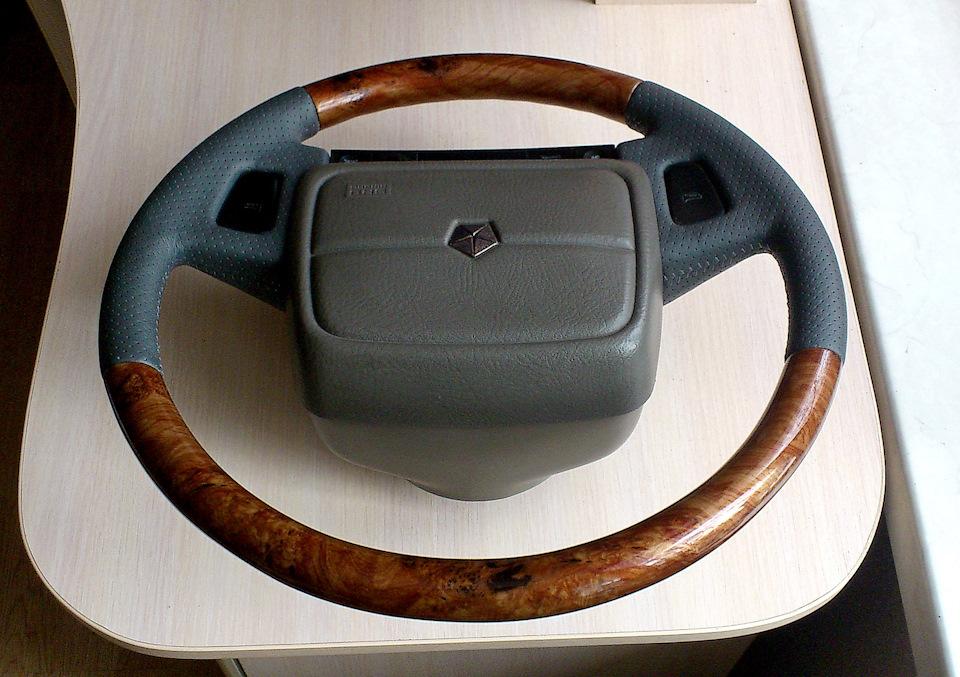 Вставки из дерева на руле своими руками 50