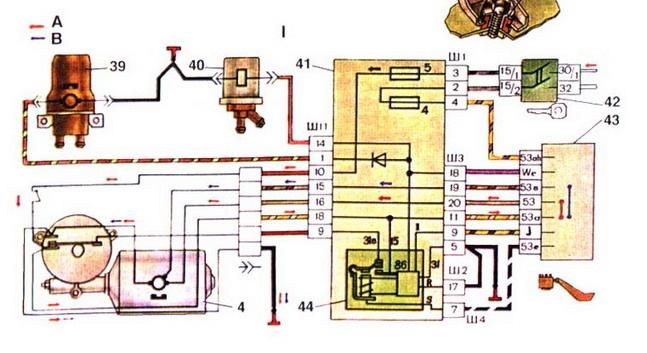 схему электропроводки ваз