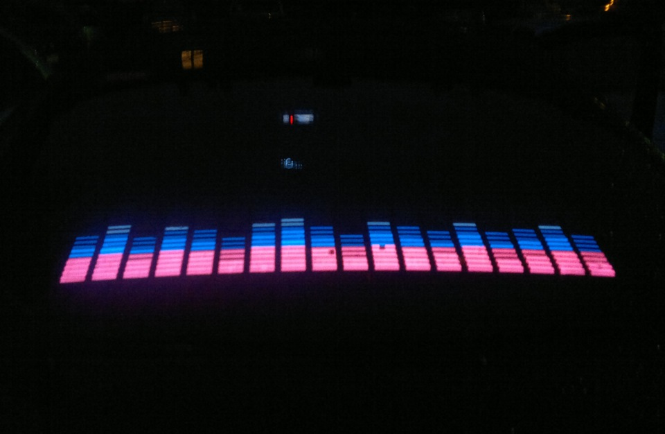 Эквалайзер на стекло динамики