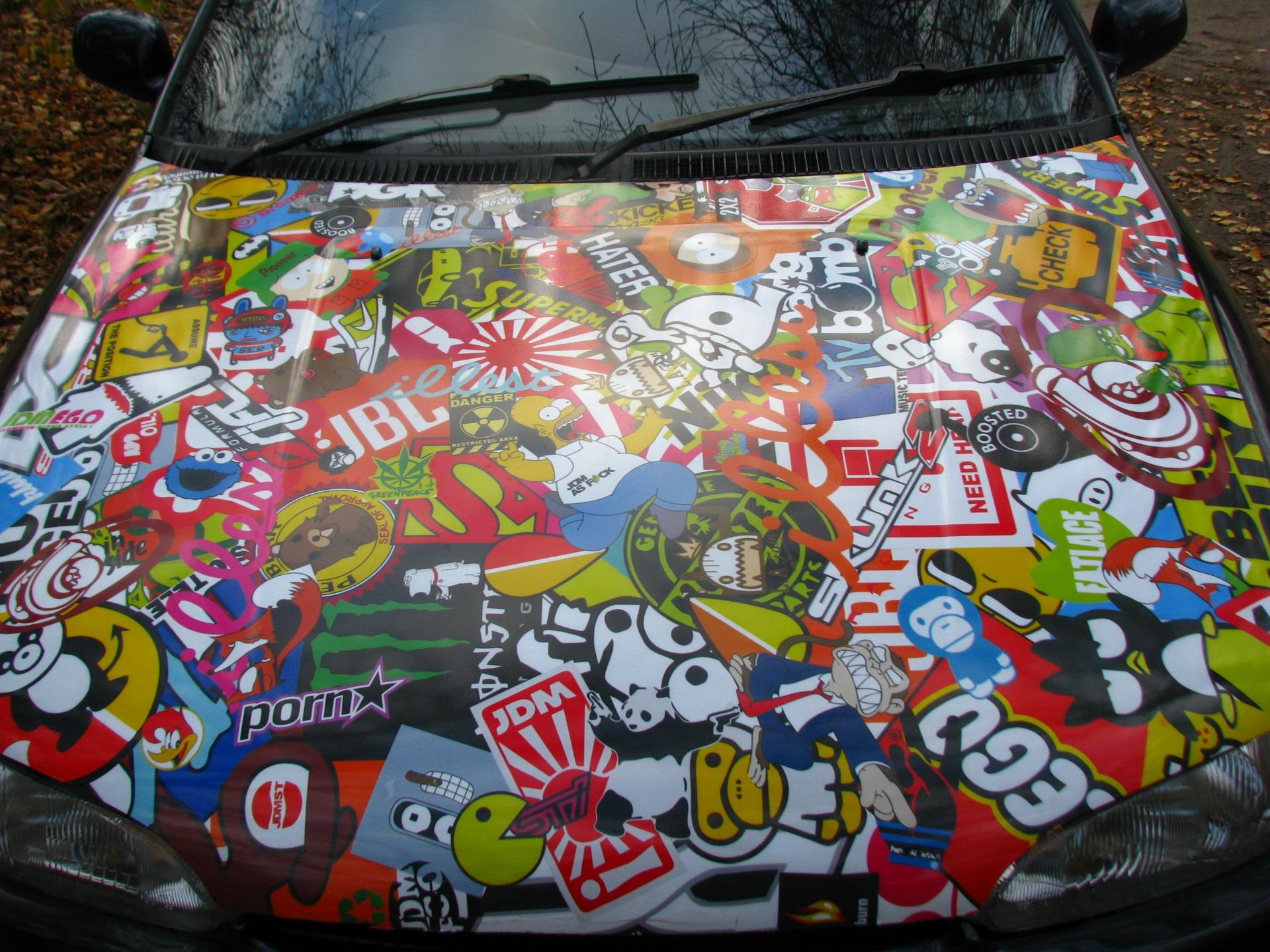 Стикеры на машину фото