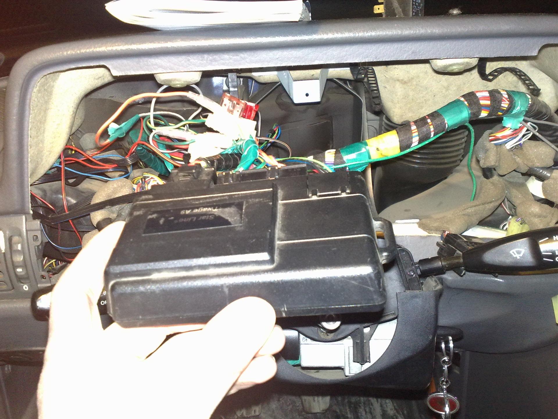 Установка сигнализации с автозапуском на нексию своими руками 95