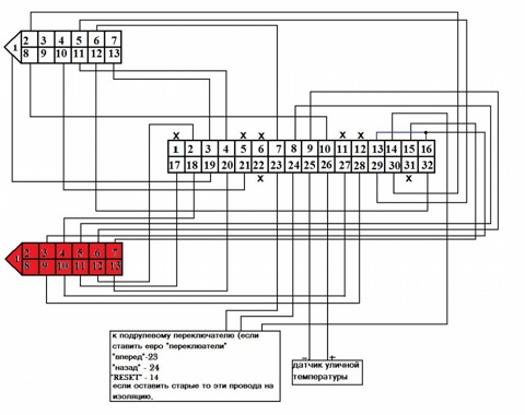 схема замены приборной панели ВАЗ 2110 со старого образца на нового.