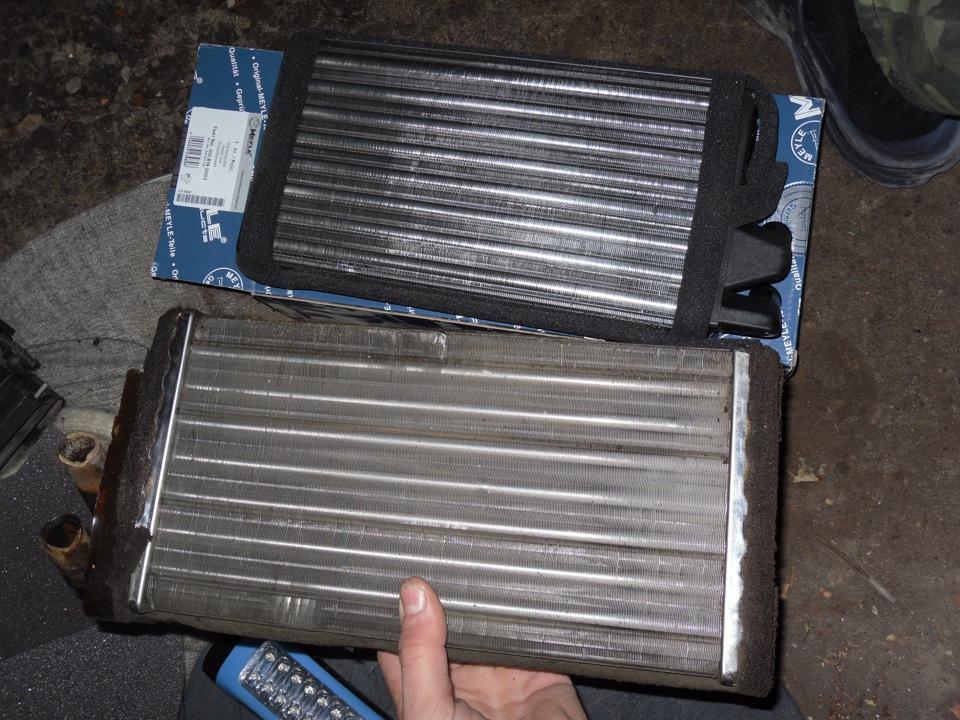 старый и новый радиатор.