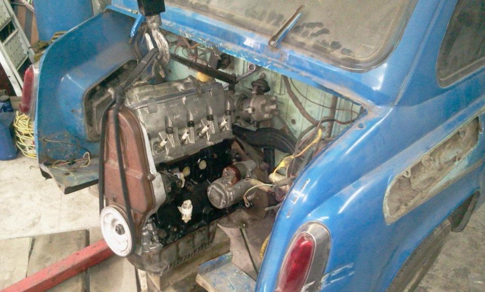 Ремонт двигателя заз 965  видео