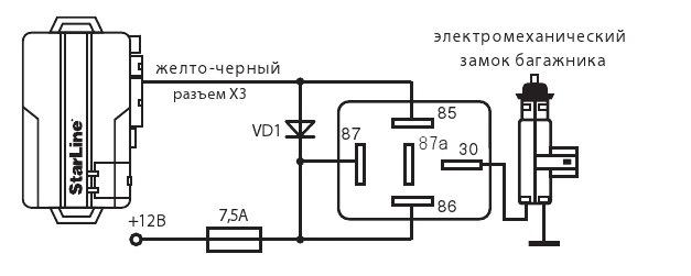 Схема подключения привода