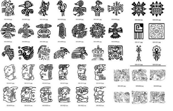 Тату эскизы индейцев майя