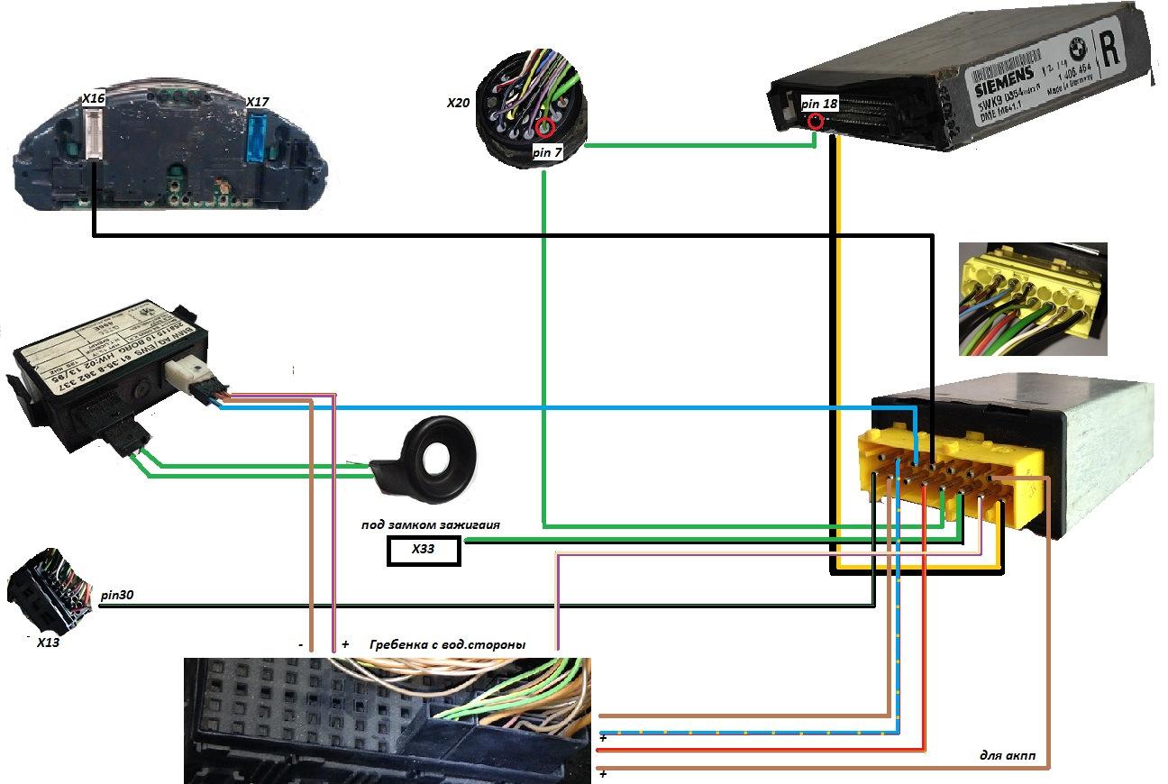 Схема ews bmw e36