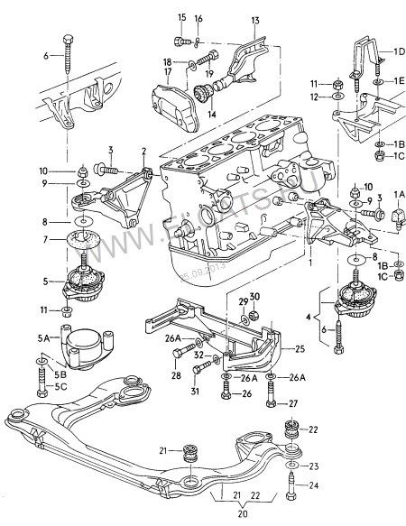 двигателя Audi 80 B4