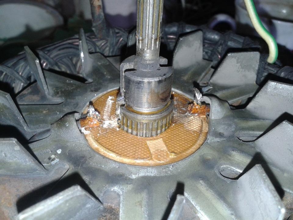 Как заменить контактные кольца на генераторе ваз 2110 видео