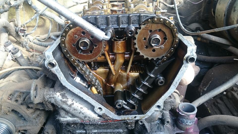 двигатель 405 замена цепей грм отметить