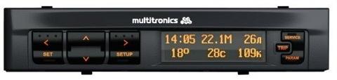 фото 1: маршрутный компьютер Multitronics X150 фото 2: негативное отображение дисплея.