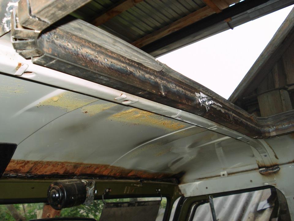 Как сделать крышу на уазе 910