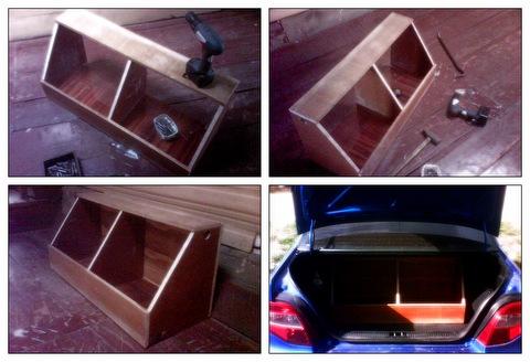Сделать ящик для инструмента в багажник своими руками