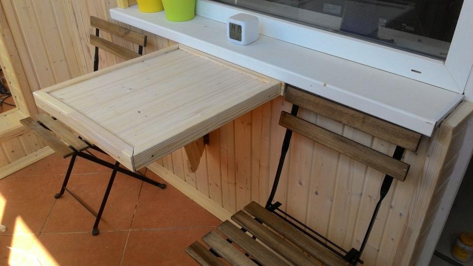 Складной столик на балкон: тырим патент у ikea.