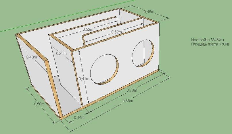 Как сделать короб для сабвуфера схема конструкция - Zerli.ru