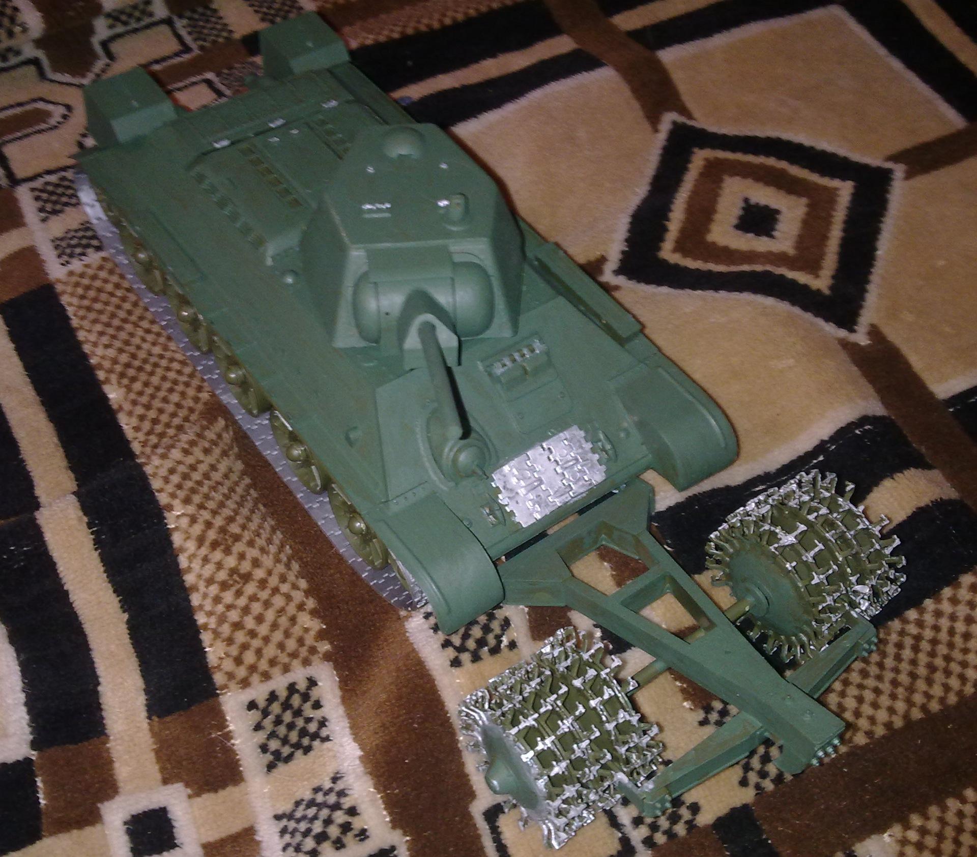 Т-34-76 с минным тралом