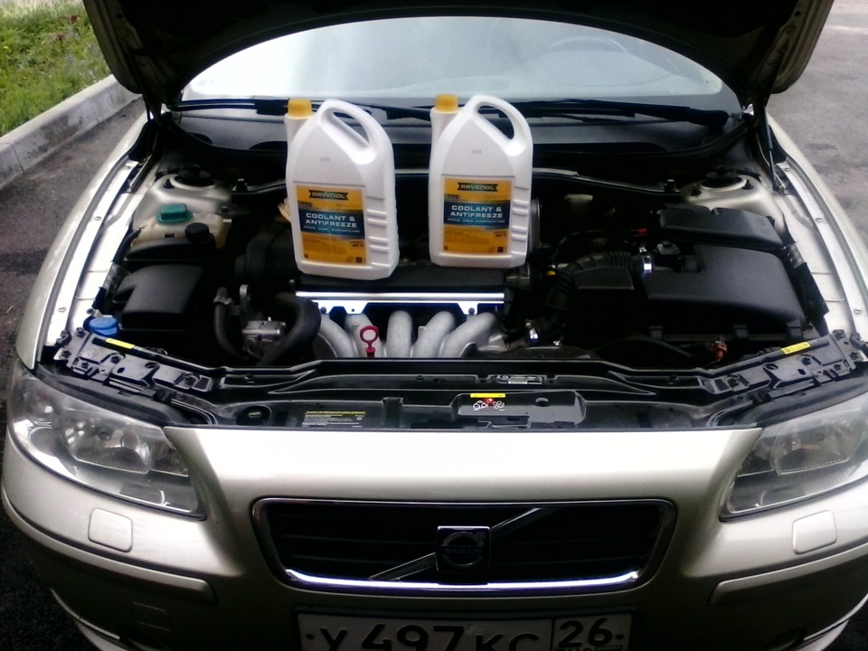 объём системы охлаждения двигателя в5244s вольво s60