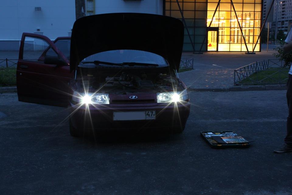 Как сделать свет на фарах в фотошопе