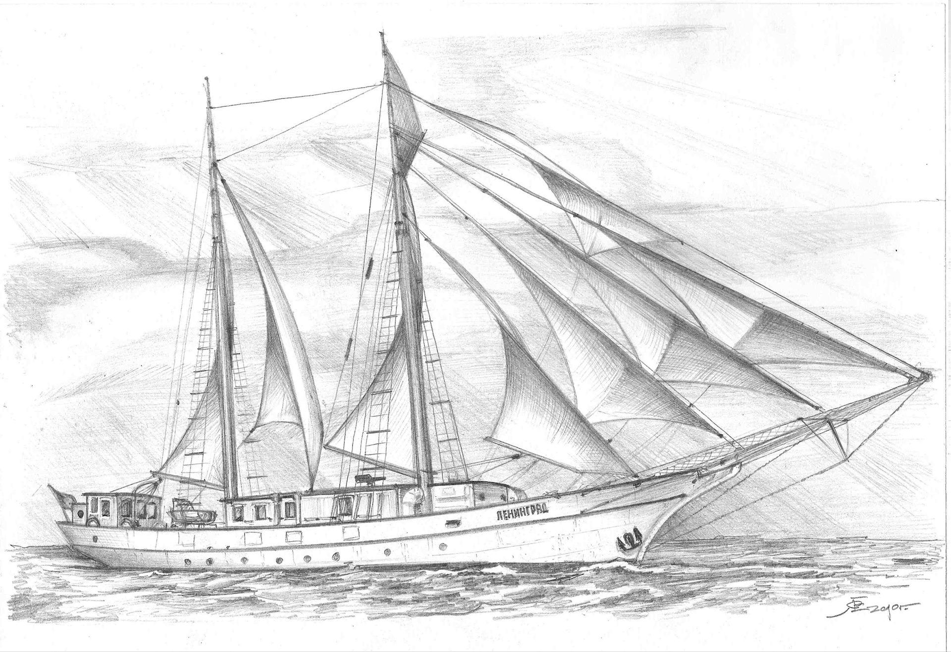 где более рисунок яхта в море карандашом проблема