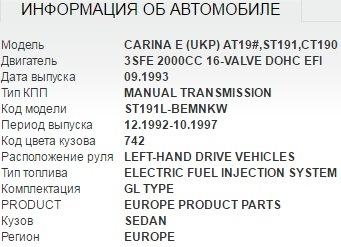 Как узнать код модели автомобиля
