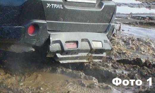 nissan x-trail защита заднего бампера