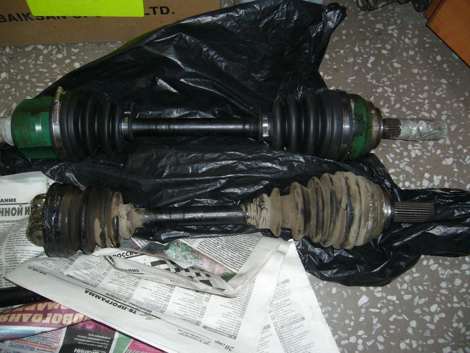 ремонт левого привода митсубиси шариот 4d68