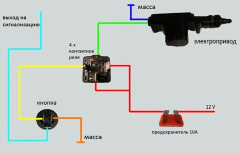 схема подключения активатора и