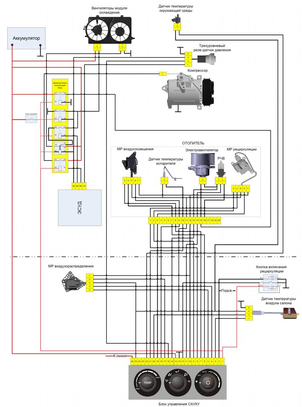 Схема подключения дополнительного вентилятора охлаждения ваз