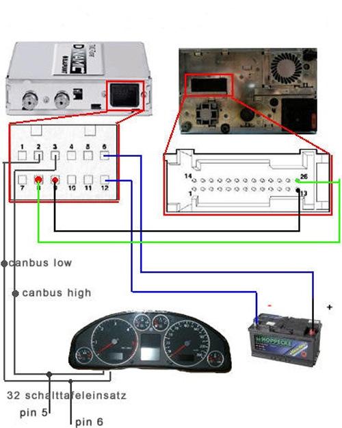 Схема подключение navi plus rns-d к приборной панели