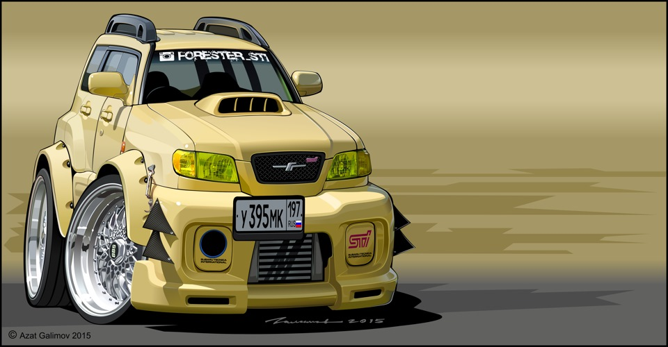Cartoon My Forika Logbook Subaru Forester Sti Bagged Fozz 1998 On