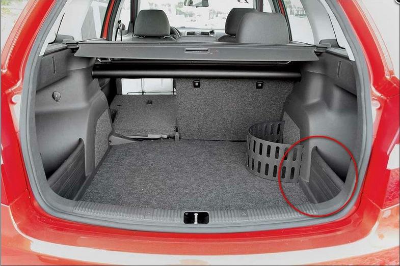 вещевые отсеки в багажник для skoda fabia