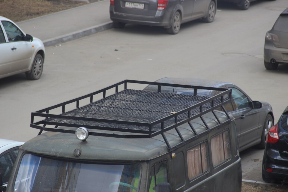 Багажник на крышу уаз буханка своими руками фото