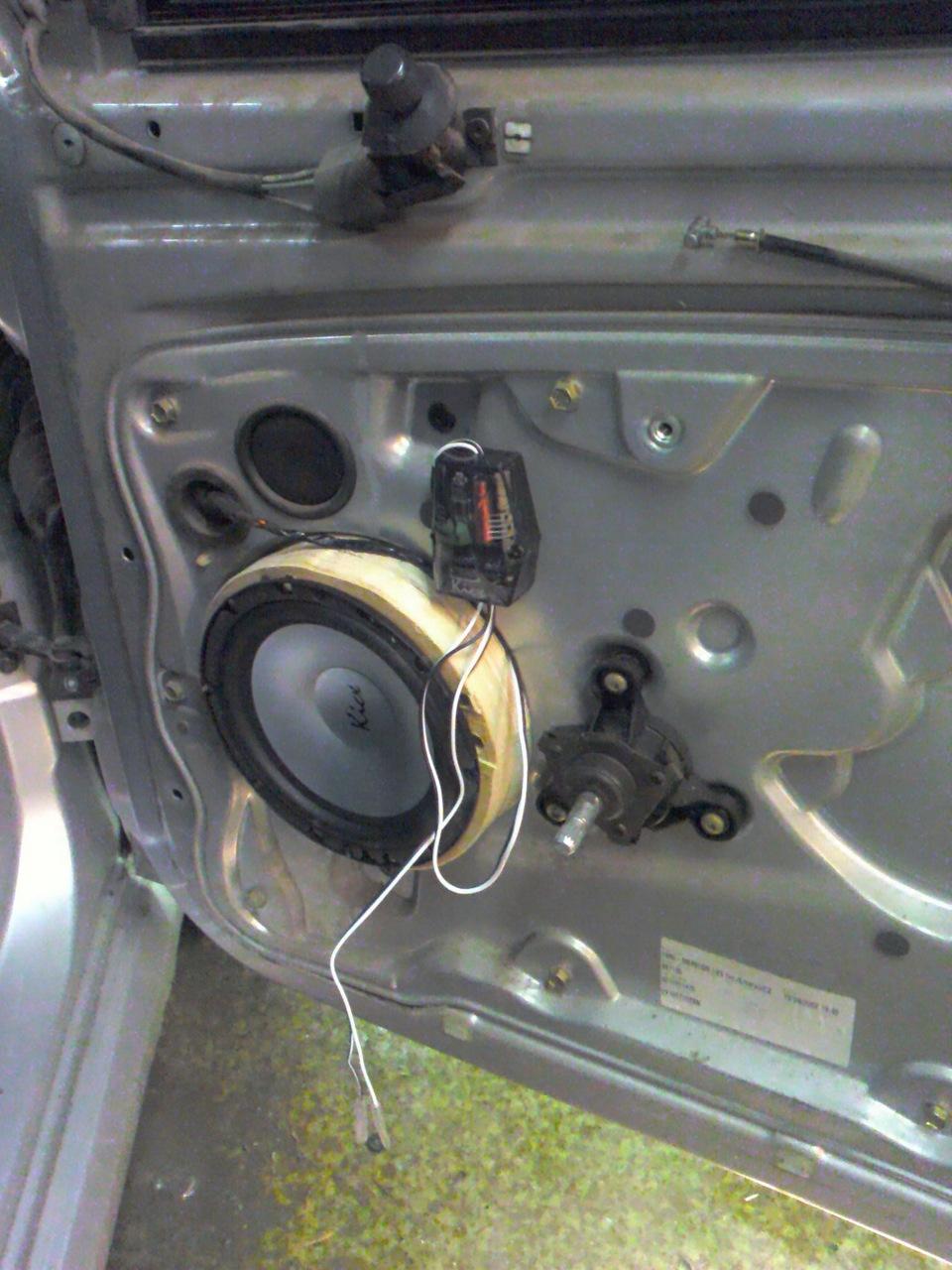 замена штатной акустической проводки skoda