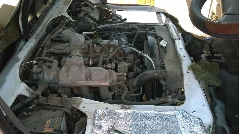 Замена двигателя ниссан своими руками 80