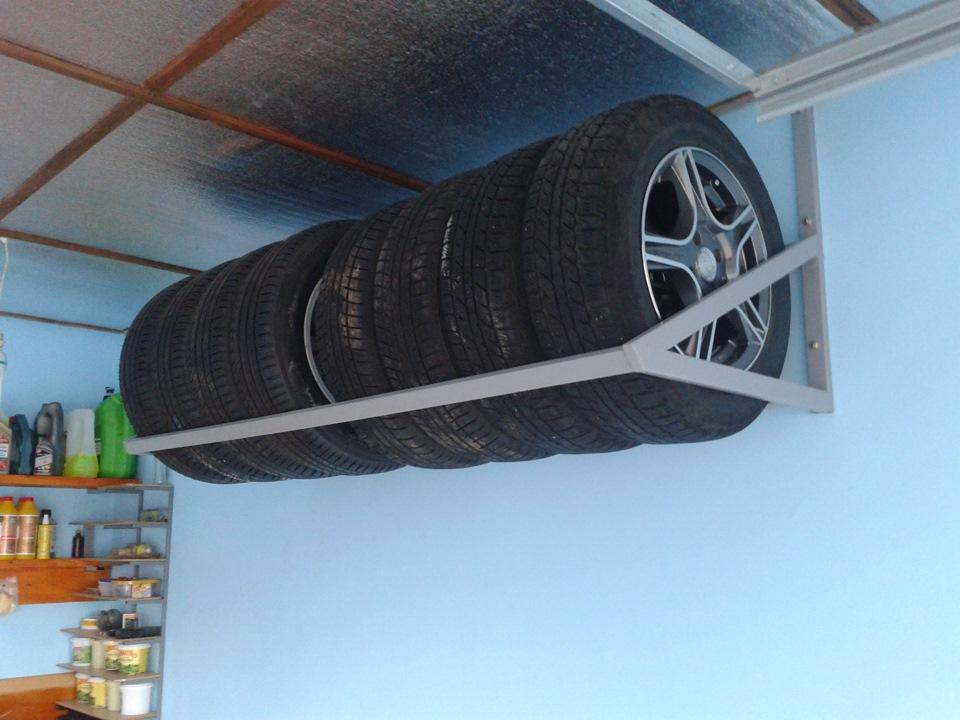 Полка для колес на стену