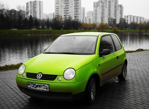 Volkswagen lupo 1999 года выпуска салатовый фото